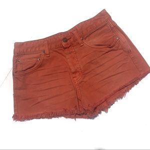 Free People Button Fly Jean Shorts 27